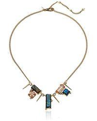 Alexis Bittar - S Geometric Multi Stone Bib With Satellite Crystal Spikes Necklace - Lyst