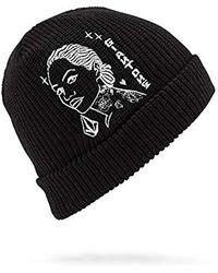 Volcom Mike Giant Skull Fit Beanie - Black