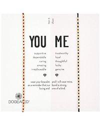 Dogeared - S Gold Wine/black Friendship Bracelet, 9 - Lyst