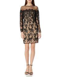 Betsey Johnson Long Sleeve Lace Dress - Black