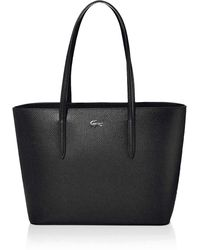 Lacoste Chantaco Medium Zip Shopping Bag - Black