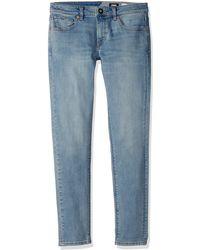 Volcom Boys' Big Solver Tapered Jeans - Blue