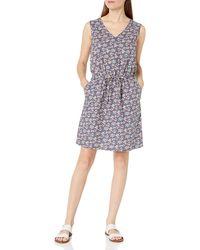 Amazon Essentials Sleeveless Linen Dress - Bleu