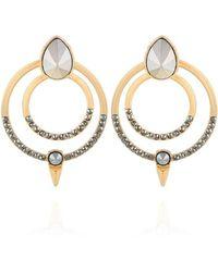 Guess Boucles d'oreilles pendantes avec pierre - Métallisé
