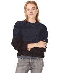 Volcom Madame Boxy Fitted Long Sleeve Sweater - Blue