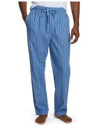 Nautica Soft Woven 100% Cotton Elastic Waistband Sleep Pajama Pant - Blue