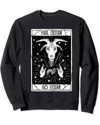 Perry Ellis Hail-seitan And Goes Vegan For Sweatshirt - Black
