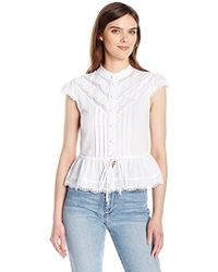 25711ee3 Plenty by Tracy Reese - Cap Sleeve Victorian Blouse - Lyst
