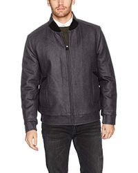 Marc New York - Barlow Melton Wool Bomber Jacket - Lyst