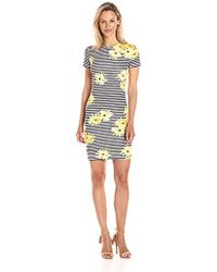 7b766dcd86aa French Connection - Sunflower Stripe Dress - Lyst