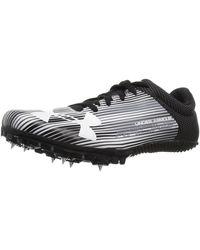 Under Armour Kick Sprint Spike Running Shoe, White (100)/black, 14