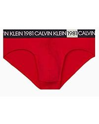 Calvin Klein 1981 Micro Hip Briefs - Red