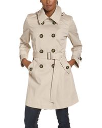 MICHAEL Michael Kors Double Breasted Belted Trench Coat - Natural