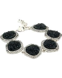 Lucky Brand - Pave Druzy Link Bracelet (silver) Bracelet - Lyst