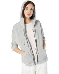 Splendid Zip Up Hoodie Sweater - Gray