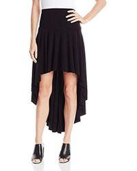 Norma Kamali - Hi Low Skirt In Black - Lyst