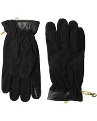 Timberland Nubuck Glove With Touchscreen Tips - Black