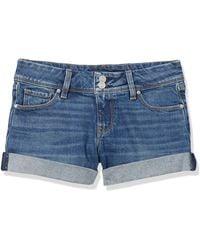 Hudson Jeans Croxley Mid Thigh Flap Pocket Jean Short - Blue