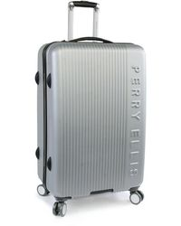 """Perry Ellis Forte Hardside Spinner Check In Luggage 29"""" - Metallic"""