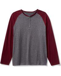 Amazon Essentials Regular-fit Long-sleeve Henley Shirt - Gray