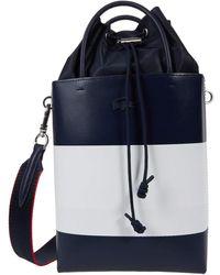 Lacoste Chantaco Knot Colorblock Drawstring Crossbody Bag - Blue