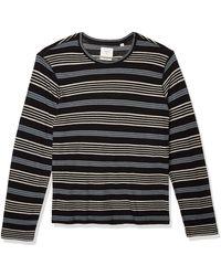 Billy Reid Pima Cotton Long Sleeve Tee - Black