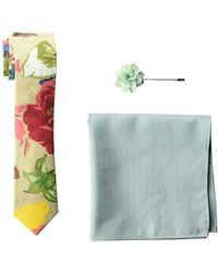 Original Penguin 3-piece Tie, Pocket Square & Lapel Pin Box Set - Blue