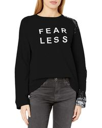 Sam Edelman Paint Splash Sweatshirt - Black