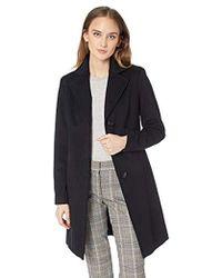 Calvin Klein - Classic Cashmere Wool Blend Coat - Lyst