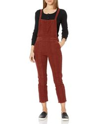 AG Jeans Pleated Isabelle Overall - Red