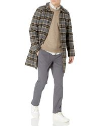 Billy Reid Reversible Down Car Coat With Heirloom Stripe Detail - Gray