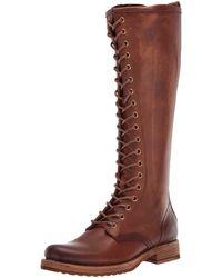 Frye Veronica Combat Tall Boot - Brown