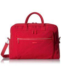 Vera Bradley Iconic Grand Weekender Travel Bag, Microfiber - Red