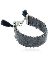 Lucky Brand - Fabric Silver Bracelet - Lyst