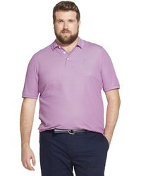 Izod - Big And Tall Advantage Performance Short Sleeve Solid Heather Polo - Lyst