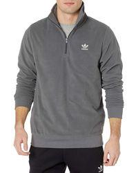 adidas Originals ,mens,essentials Half-zip Pullover,grey,x-small - Gray