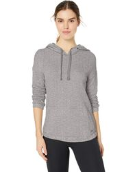 Marc New York Plus Size Sparkle Terry Hooded Pullover - Gray
