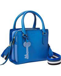 Fossil Hope Leather Crossbody Handbag - Blue