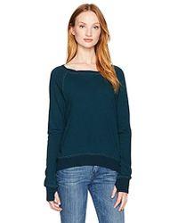 Pam & Gela Annie Hi Low Sweatshirt-f17 - Blue