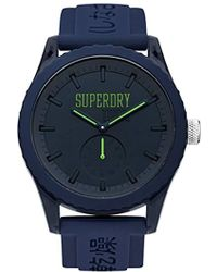Superdry - ' Tokyo' Quartz Plastic And Silicone Casual Watch, Color:blue (model: Syg145uu) - Lyst