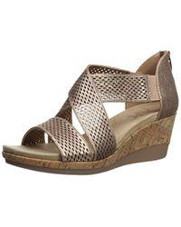 3497008771 Anne Klein Pebbles Wedge Sandal - Save 53% - Lyst