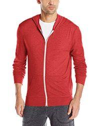 Alternative Apparel Eco Zip Hoodie Sweatshirt - Red