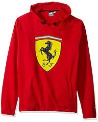 PUMA - Scuderia Ferrari Big Shield Hooded Sweatshirt - Lyst