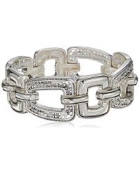 Napier - Silver With Antique Stretch Bracelet - Lyst