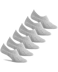 Amazon Essentials 6-pack Stay In Place Cotton Sneaker Liner Socks - Gray