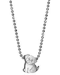 Lyst Ippolita Sterling Silver Pug Charm In Metallic