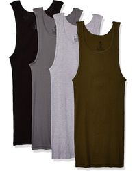 Hanes Freshiq Comfortsoft Dyed Tagless Tanks 4-pack - Multicolor
