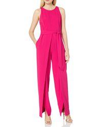 Nine West Jumpsuit With Flyaway Pant - Pink