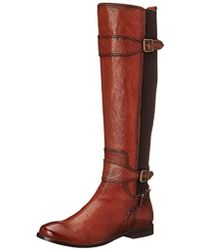 Frye - Anna Gore Tall Buffalo Leather Riding Boot - Lyst