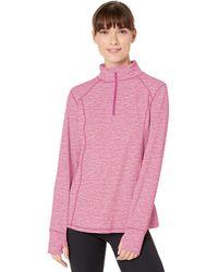 Danskin Active 1/4 Zip Wicking Pullover Top - Pink